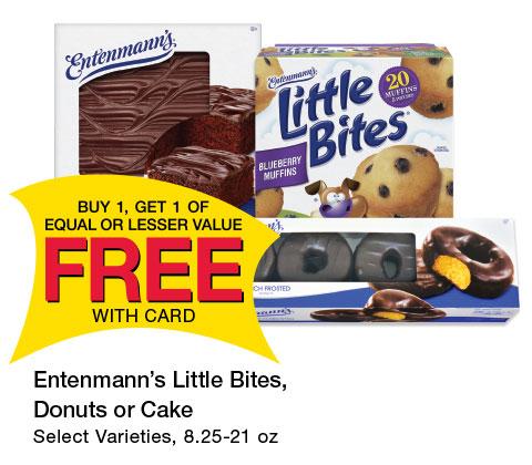Entenmann's Little Bites, Donuts or Cake Select Varieties, 8.25-21 oz | BOGO