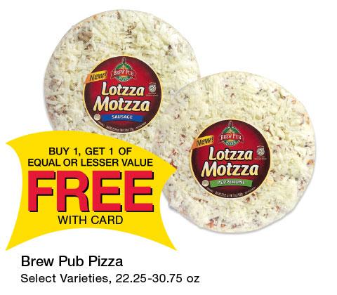 Brew Pub Pizza Select Varieties, 22.25-30.75 oz | BOGO
