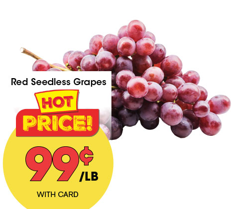 Red Seedless Grapes | 99¢ lb