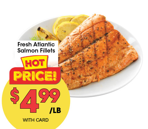 Fresh Atlantic Salmon Fillets | 4.99 lb