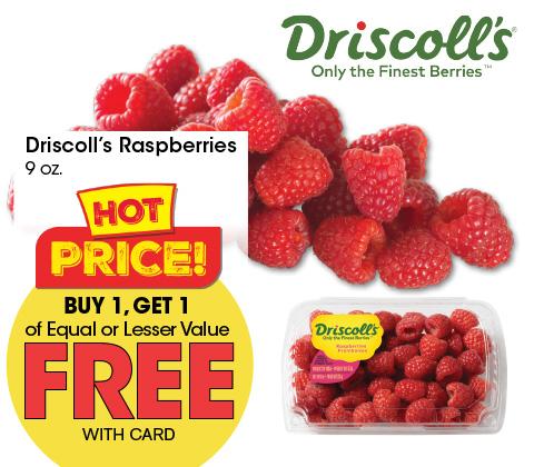 Driscoll's Raspberries 9 oz   BOGO